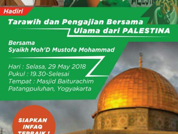 Tarawih dan Pengajian Bersama Ulama dari Palestina
