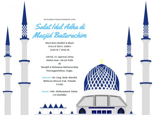 Salat Idul Adha 1440 H / 2019 M