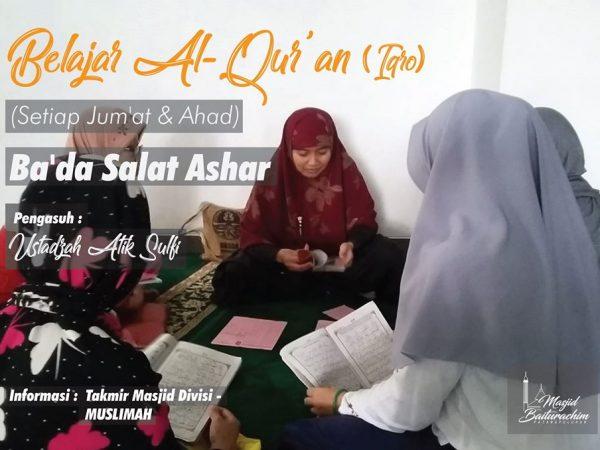 Belajar Mengaji Muslimah - Via Online