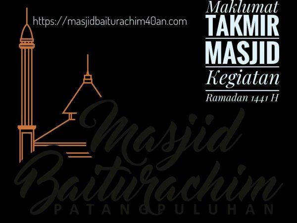 Maklumat Terkait Ibadah Ramadan 1441 H