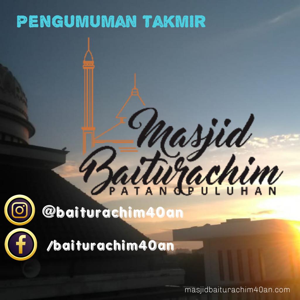 Pengumuman Takmir masjid