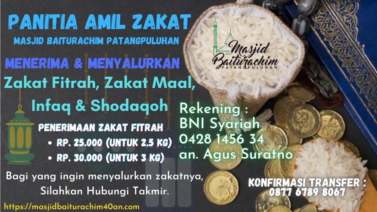 Penerimaan Zakat Bulan Ramadhan 1442H/2021M