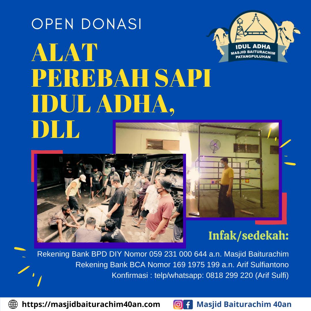 Open Donasi : Alat Perebah Sapi Idul Adha